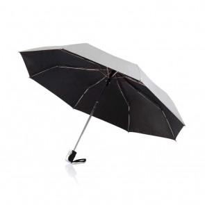 "Deluxe 21,5"" 2 in 1 auto open/close umbrella,"