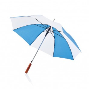 "Deluxe 23"" automatic umbrella white/royal"