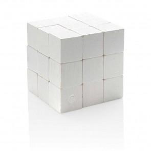 Wooden brain game in canvas pouch, white