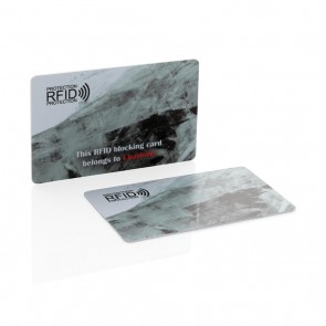 Printed sample Anti-skimming RFID shield card, white