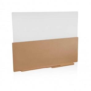 Safety side desk panel 80cm, brown