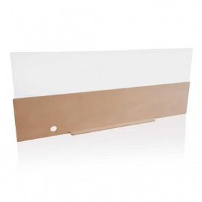 Safety front desk panel 140cm, brown