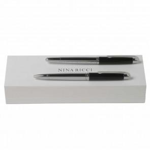 Set Duel Black (ballpoint pen & rollerball pen)