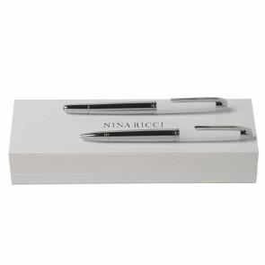 Set Duel White (ballpoint pen & rollerball pen)