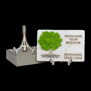 Decoratiune Martisor SD21 - Felicitare cu copacel din licheni