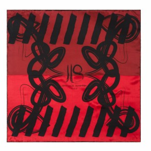 Silk scarf Reflection Red