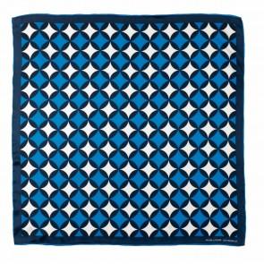 Silk scarf Boogie Blue