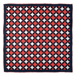 Silk scarf Boogie Red