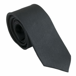 Silk Tie Uomo Dark Grey
