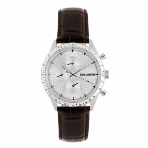 Chronograph Master Silver Brown Leather-R3S-M-M904