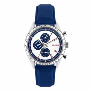Chronograph Master Silver Blue Off-White Leather-M3S-M-M1108