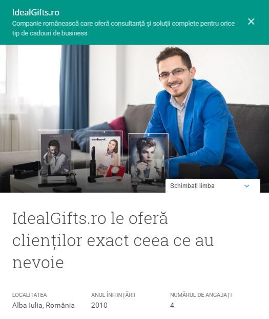 Testimonial Google IdealGifts.ro